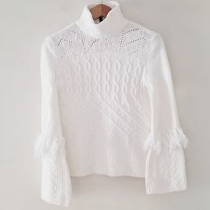 White House Black Market sweater with many accents